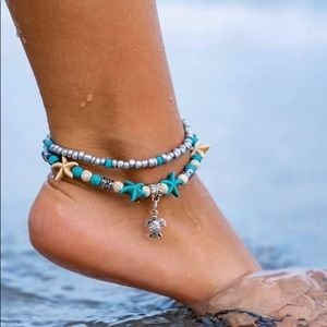Sea turtle anklet NEW